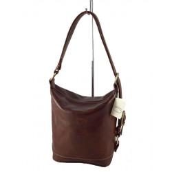 Leder Damentasche - 528