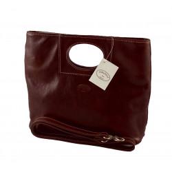 Leder Damentasche - 563