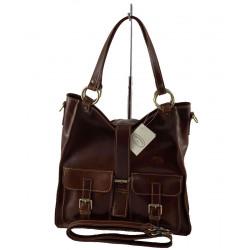 Leder Damentasche - 574