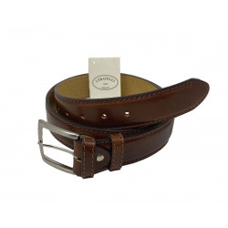Leather Belt - Brown - 4 cm