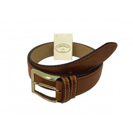 Leather Belt - Honey - 4 cm