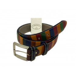 Leather Belt - Multicolor - 4 cm