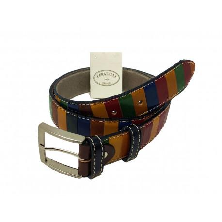 Leather Belt - Multicolor - 4 cm