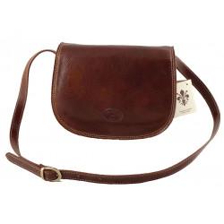 Leder Damentasche - 512