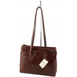 Leder Damentasche - 521